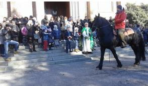 A Trecella cani, gatti e cavalli in fila per la benedizione