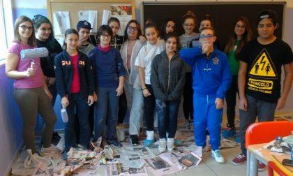 Al Bellisario di Inzago gli studenti ridipingono le aule