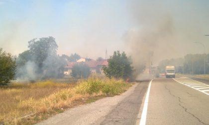 Gorgonzola, fiamme in via Restelli (FOTO GALLERY)