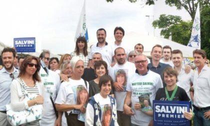 Matteo Salvini al mercato di Cernusco