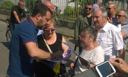 Matteo Salvini al mercato di Melzo
