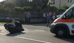 Pozzo, schianto sulla Sp 525, ferito motociclista