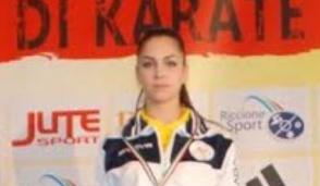 Pozzuolo, la karateka Camilla Giuliani, medaglia di bronzo agli Italiani