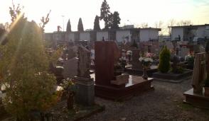 Predoni in visita al cimitero di Pioltello