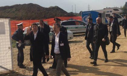 Renzi è arrivato a Cernusco e ha visitato il nuovo polo scolastico