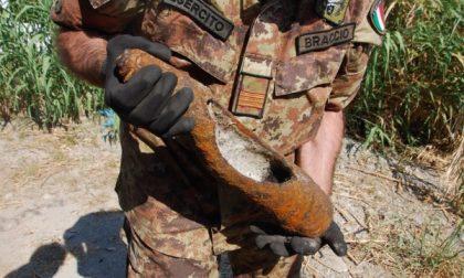 Bomba da 500 libbre nel cantiere Teralp della ferrovia a Segrate