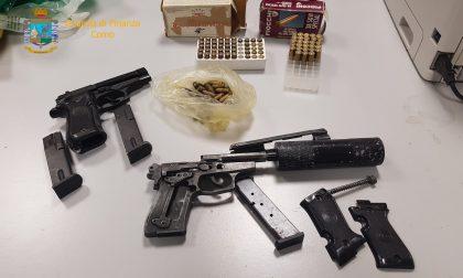 Droga e armi in un appartamento di Brembate