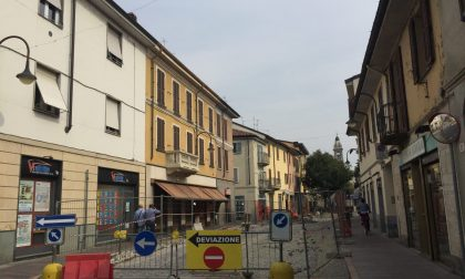 Lavori in centro a Gorgonzola, commercianti e sindaco a confronto