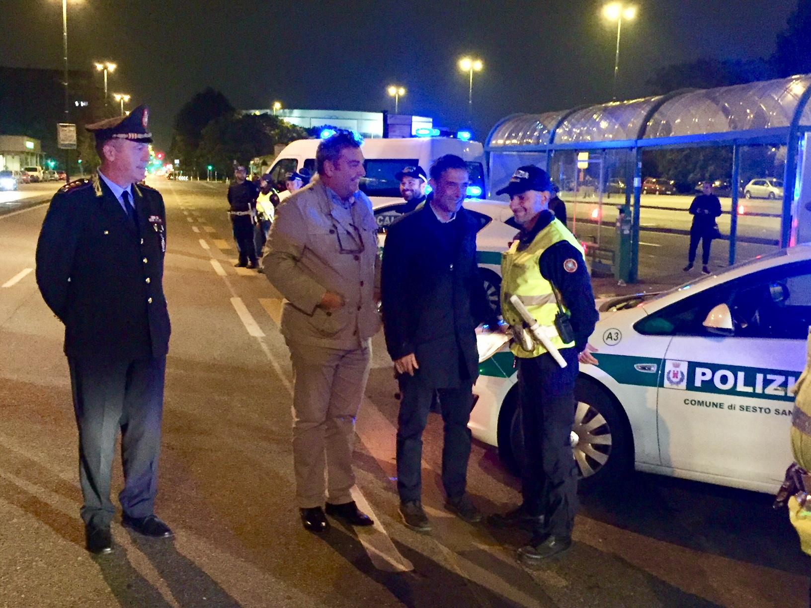 Pattugliamento Polizia locale Sesto San Giovanni operazione Smart