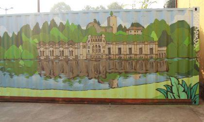 Sinergico murale lungo l'Adda