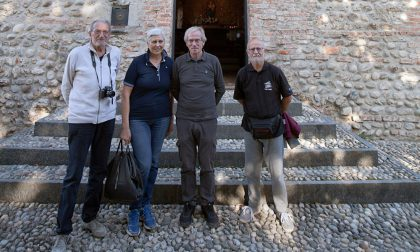 Il sindaco di Bellinzago in visita al santuario della Rocchetta