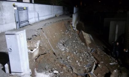 Smottamento in un cantiere edile paura a Trezzo Le FOTO