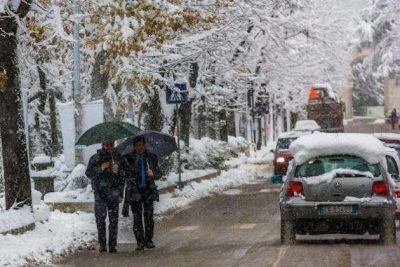 Meteo: ancora rischio neve sul territorio, allerta fino alle 14 di domani