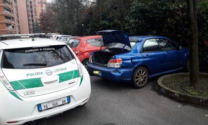 Auto rubata a Segrate recuperata dai vigili