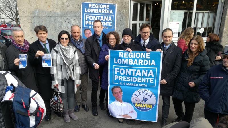 Elezioni Lombardia 2018 a Cologno la prima uscita pubblica di Fontana