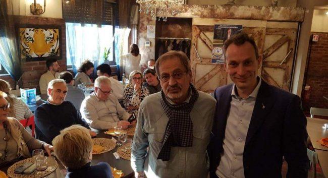 cena elettorale cologno monzese membri del direttivo della Pro Loco al pranzo elettorale di Riccardo Pase della lega Nord