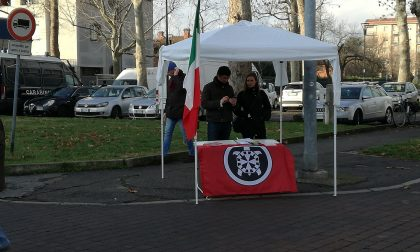 Casa Pound a Inzago Carabinieri e contromanifestazione FOTO VIDEO