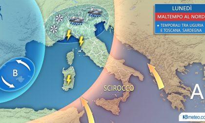 METEO ancora piogge in Martesana e neve sulle Alpi