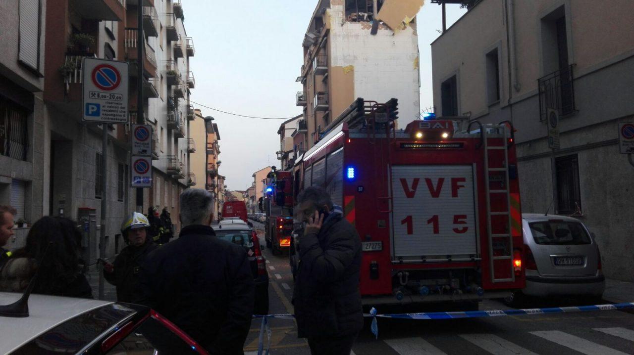Esplosione Sesto in un palazzo di via Villoresi per una fuga di gas