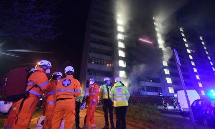 Appartamento incendiato a Cologno Monzese IL VIDEO