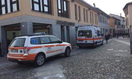 Grave malore in banca  a Cernusco Intervento in corso