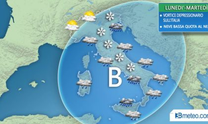 Meteo tra lunedì e martedì torna il maltempo con pioggia e neve anche a quote basse