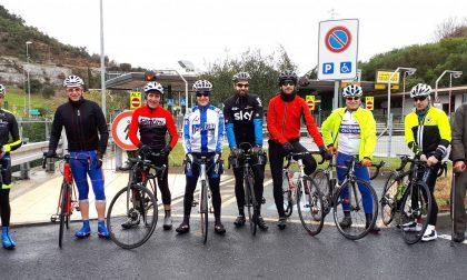Amici del ciclismo di Basiano in sella per seguire la Milano-Sanremo