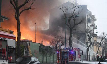 Incendio Cologno Nessun rischio per la salute