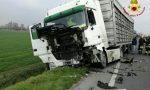 Auto contro camion per il trasporto animali Muore 47enne
