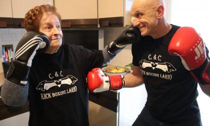 Zia Ginetta a 91 anni si tessera per la Kickboxing Lario