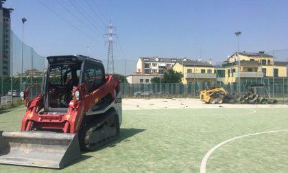 Iniziati i lavori al centro sportivo di Cernusco