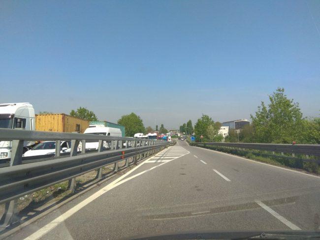 Incidente a Melzo, traffico in tilt
