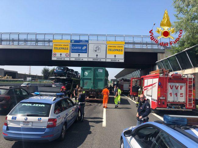 Incidenti e code sull&#8217&#x3B;autostrada A4 a Monza verso Milano