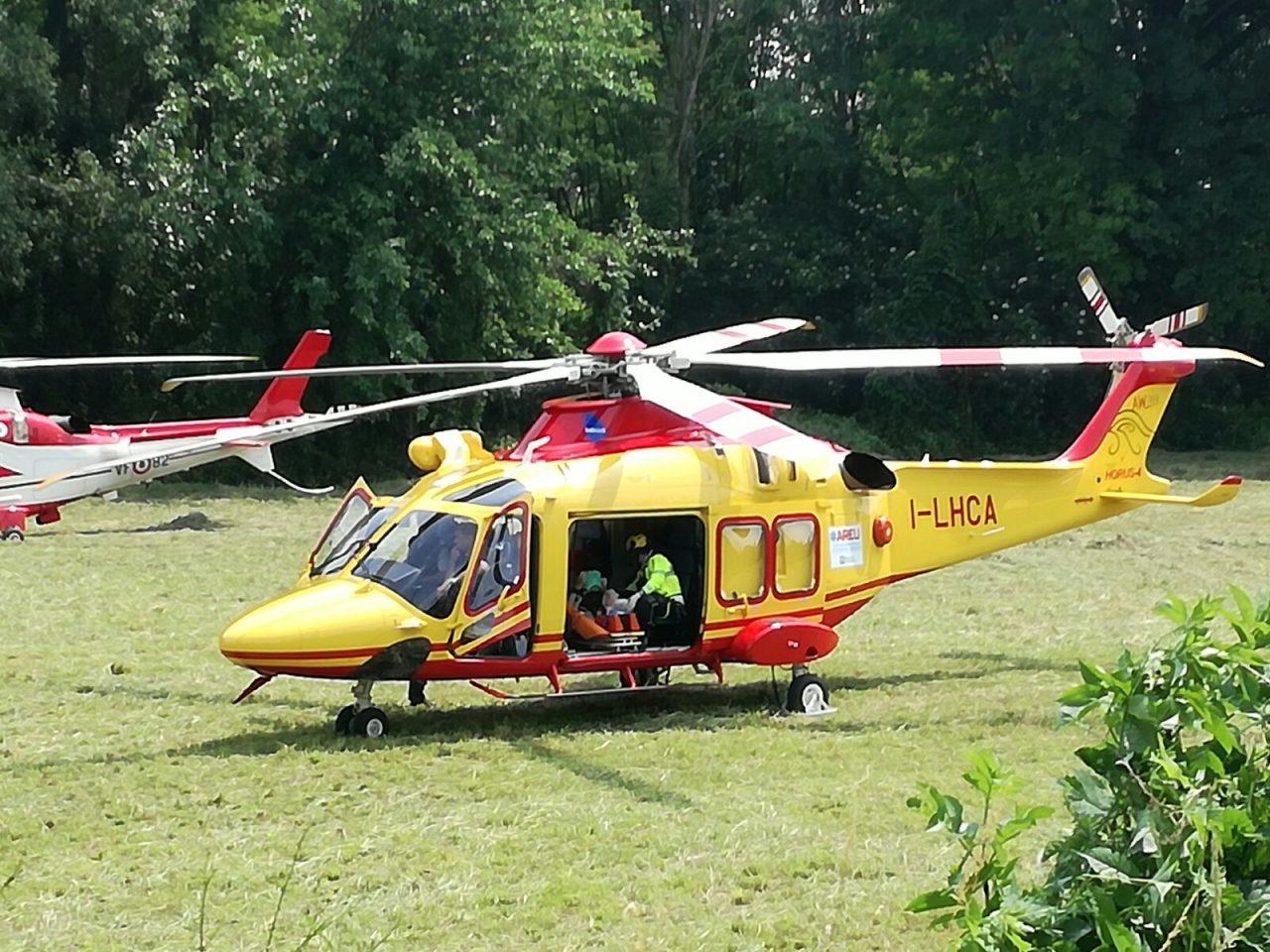 incidente elisoccorso elicottero ambulanza adda
