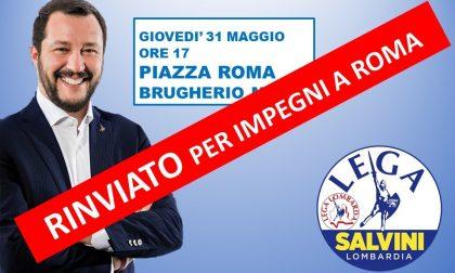 Salta la visita di Matteo Salvini a Brugherio