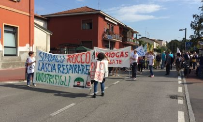 Basiano Masate manifestazione contro l'impianto di biogas