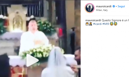 """Mauro Icardi: """"Quel prete canterino di Lecco è un fenomeno"""""""