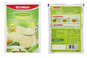 Rischio allergeni: Conad ritira crema di patate e porri