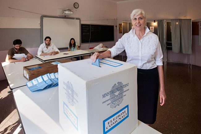 bellinzago urne aperte angela comelli candidata sindaco al voto