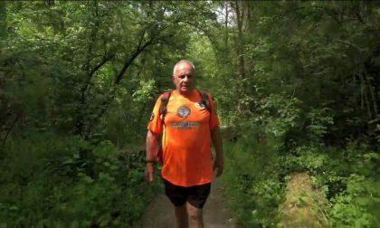 Giro d'Italia a piedi a 85 anni, oggi da Gorgonzola a Caravaggio