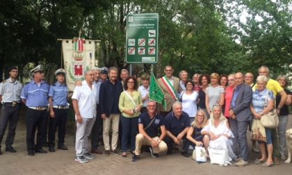 Taglio del nastro per i giardini don Luigi Sturzo