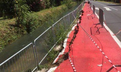 Nubifragio, ciclabile di via Milano a Pioltello ecco perché è crollata