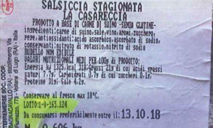 Allarme salmonella: richiamato un lotto di salsicce