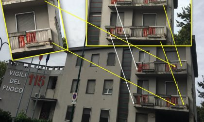 Caserma dei pompieri cade a pezzi: balconi inagibili