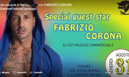 Fabrizio Corona in un bar di Cambiago?