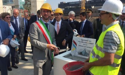 San Raffaele, posata la prima pietra del nuovo blocco di Chirurgia FOTO