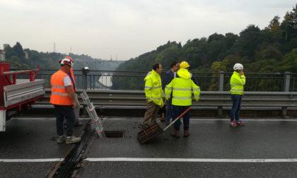 Ponte di Trezzo, controlli in corso con i tecnici