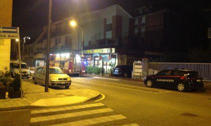 Cernusco pompieri al ristorante cinese nella notte