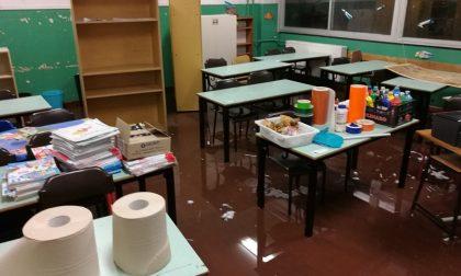 Bufera in Martesana scuola sott'acqua a Cassina de' Pecchi FOTO E VIDEO