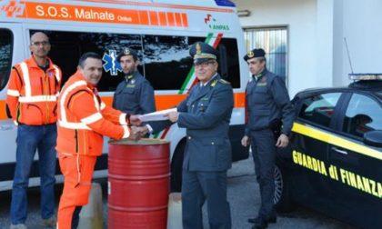 5mila litri di carburante confiscato dalla Finanza faranno camminare le ambulanze